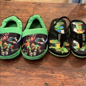 Other - Boys size 9-10 flip flops and house shoes
